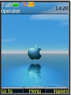 s40v3 theme apple in water