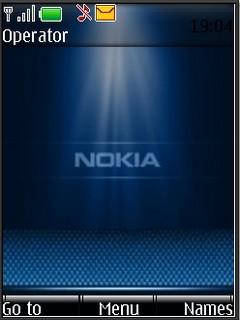 Nokia blue S40v3 theme