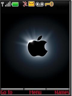 Apple black Nokia s40v3 theme