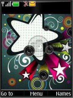 Abstract stars s40v3 theme by shadow_20