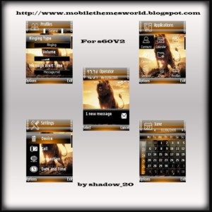Majestic lion s60v2 theme by shadow_20