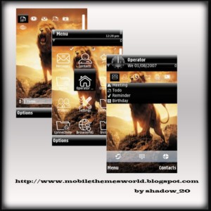 Majestic lion s60v5 theme by TheShadow