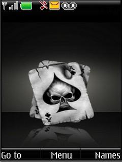 Skull Of Spade For Nokia s40v3