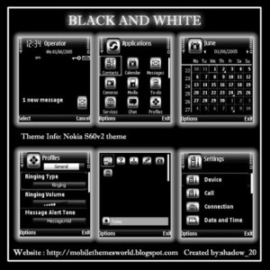 Nokia N70,N72 theme Black and White