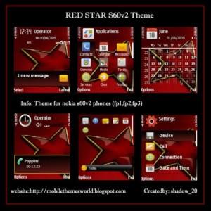 Redstar by shadow_20-s60v2 theme