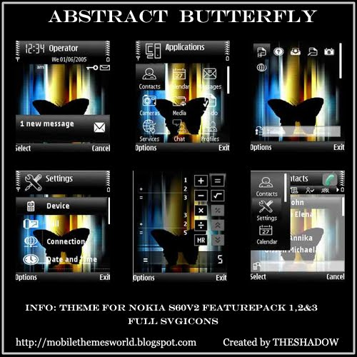 Abstract Butterfly for S60v2 phone