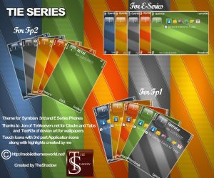 Tie Series Themes by TheShadow For Symbian 3rd and E series phones