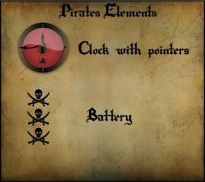 Pirate clock by acros
