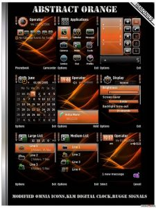 Abstract Orange symbian theme