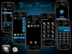 Blue pearl s60v5 theme