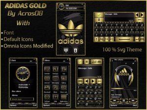adidas gold theme