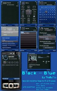 Black and Blue theme