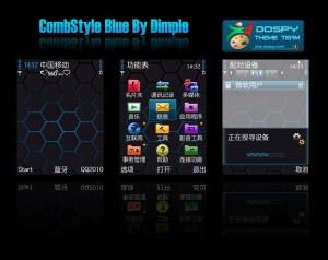 comb style neon blue theme