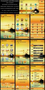 Costal Landscape wallpaper theme