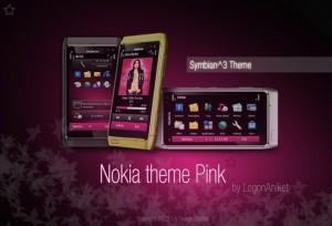 pink nokia theme