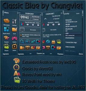 classicblue symbian 5th theme