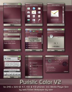Puristic color v2 se theme