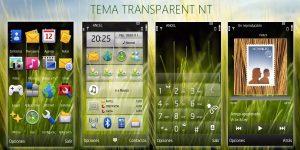Transparent mobile theme