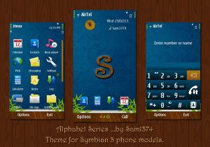 alphabet symbian theme by sam for nokia mobiles