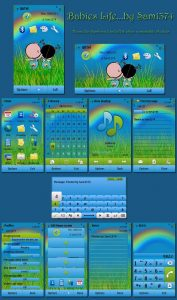cute babies life symbian themes