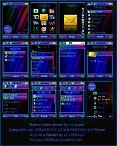 free sony ericsson theme believe colors