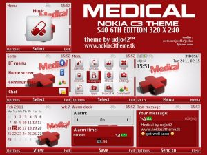 medical icons theme by udjo42 for s40v6 phones