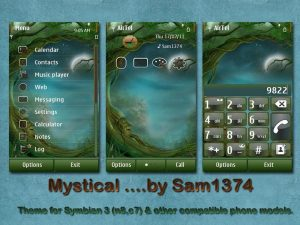 mystical nokia theme by sam1374 for symbian^3 phones