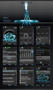 Tron movie mobile theme