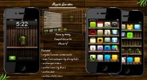 apple iphone theme garden by webby