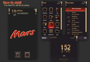 mars s60v5 theme by olek