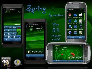 spring mobile themes by morkino