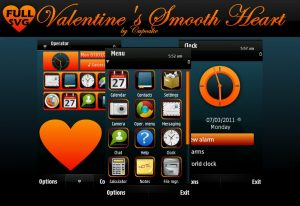 valentine series love theme for s60v5 phones by cupcake
