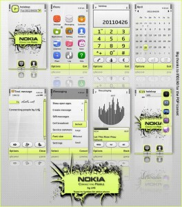 Nokia connecting people mobile theme for s60v5