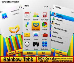 rainbow tehk icons and mobile theme by cupcake