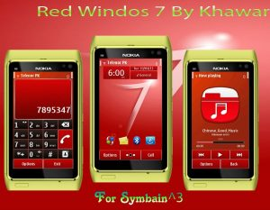 windows os 7 them red by khawar for mobiles