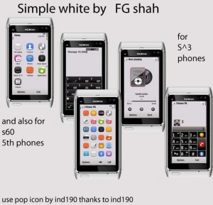 symbian theme simple white by fgshah mobile themes