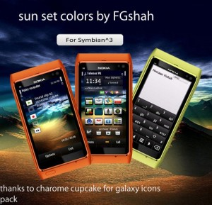 sunset free nokia colors themes by fgshah