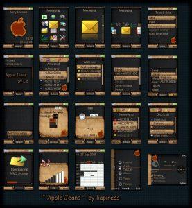 apple jeans sony ericsson 240 x 320 px mobile theme