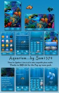 Aquarium underwater theme