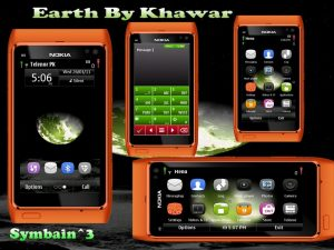 Earth symbian3 mobile theme by khawar