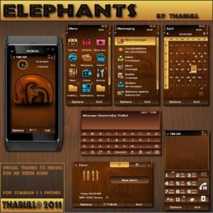 Symbian3 theme elephants by Thabull