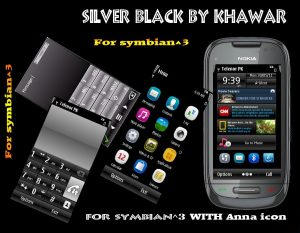 silver black mobile theme by khawar with anna icons