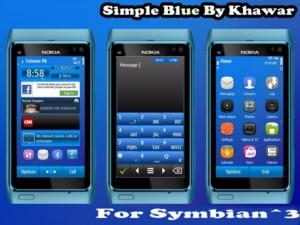 Symbian3 themes simpleblue by Khawar