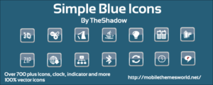 Simple blue vector icons by theshadow