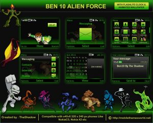 ben10 cartoon network nokia theme by theshadow