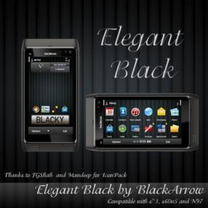 elegant black themes for nokia n8 by blackarrow