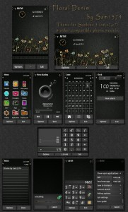 floral denim s3 mobile theme by sam