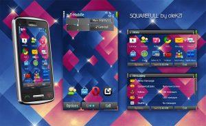 Free Symbian3 mobile theme Squarefull by olek