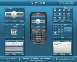 Simple blue nokia theme for 320 x 240 px phone by theshadow