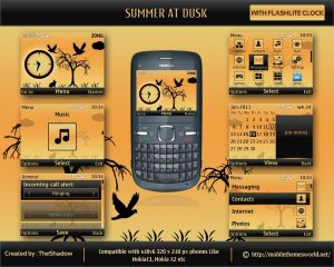 Summer at Dusk for Nokia s40v6 X2-01 theme